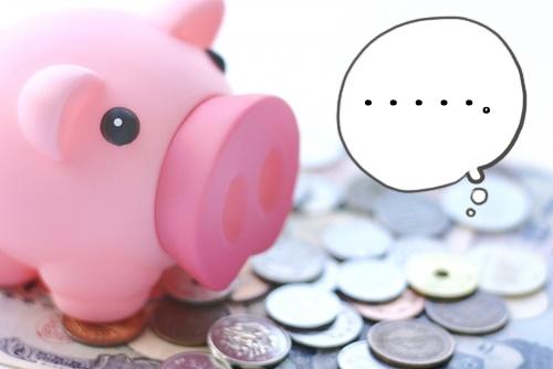豚の貯金箱「・・・。」